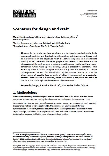 Scenarios for Design and Craft – Full Paper