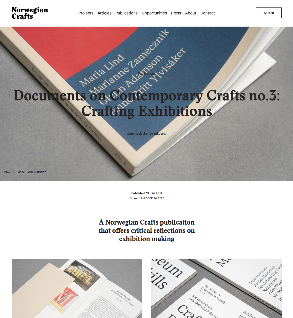 Norwegian Craft: Documents on Contemporary Crafts no.3: Crafting Exhibitions