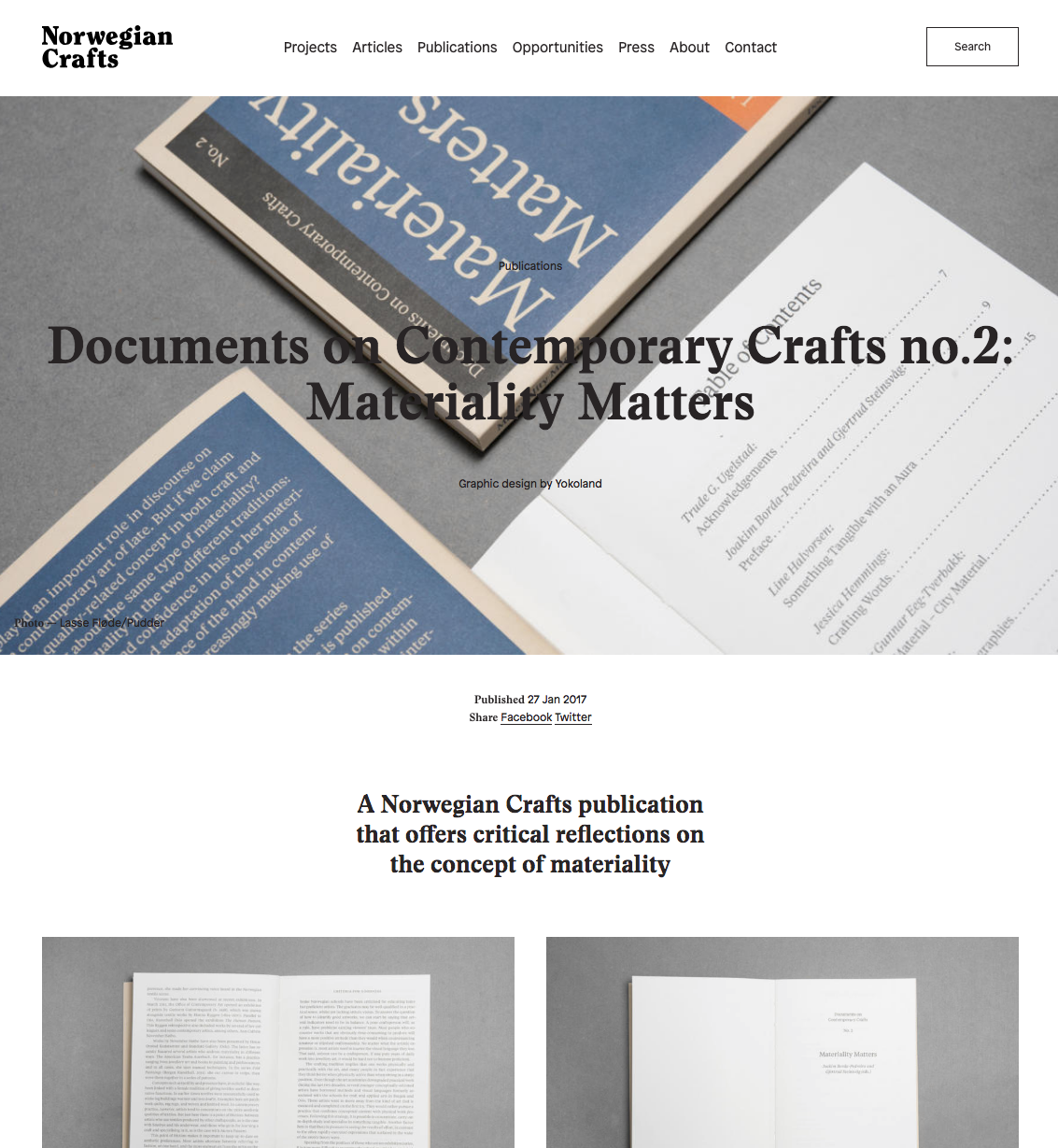 Norwegian Craft: Documents on Contemporary Crafts no.2: Materiality Matters