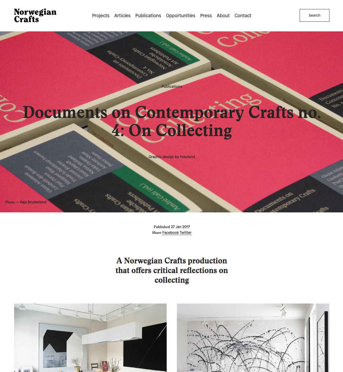 Norwegian Craft: Documents on Contemporary Crafts no. 4: On Collecting