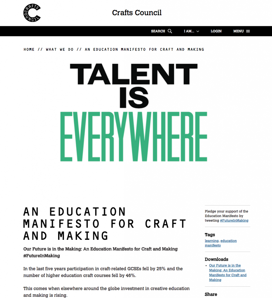 Crafts Council Launch Education Manifesto Craft